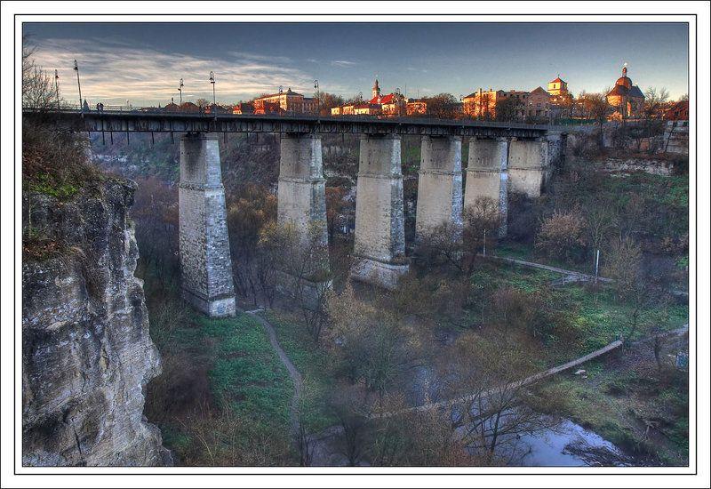 каменец-подольский, турецкий мост, смотрицкий, каньон, река, смотрич, крепость, замок Мост в Прошлоеphoto preview