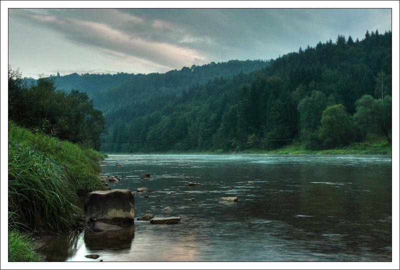 карпаты, горы, река, стрый, старый_кропивник, рассвет Утро в Карпатахphoto preview