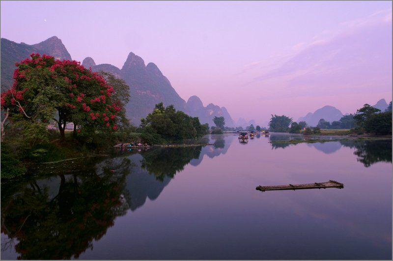 юлон, yulong, guilin,гуйлинь Утро на речкеphoto preview