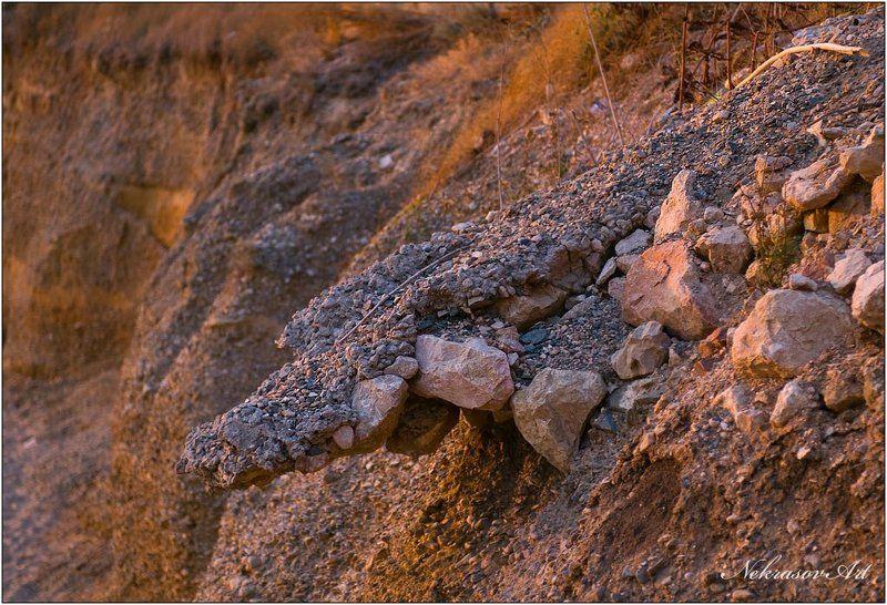 камни, закат, крокодил Crocodilephoto preview