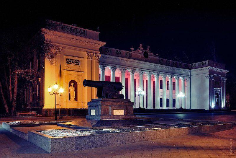 одесса, дума, город, пушка, памятник «Ночная Дума»photo preview