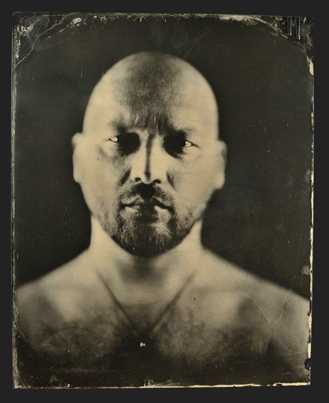 wet, plate, collodion, ambrotype, portret Портрет Человека...photo preview