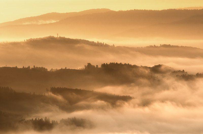 landscape, slovakia, marcinkesek, sunrise, light, fog sunrise in Slovakiaphoto preview