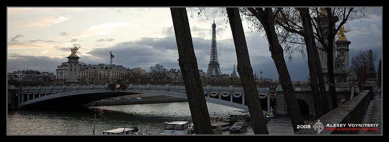париж франция набережная мост эйфелева башня Прогулка по парижу ...photo preview