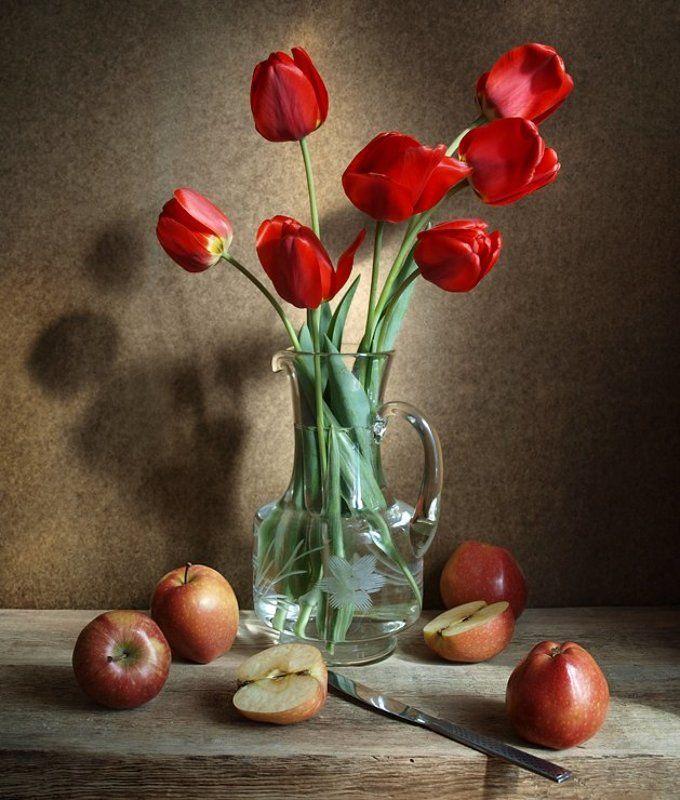 С тюльпанами и яблокамиphoto preview