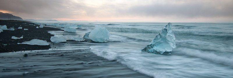 iceland, jokulsarlon,sunset дары моря северногоphoto preview
