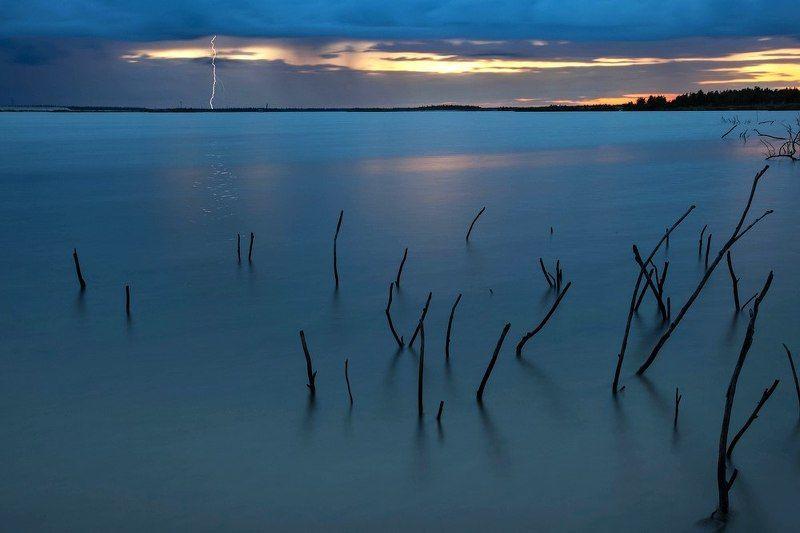 russia, flash, lake, sunset, landscape, north, россия, молния, пейзаж, север, озеро Россия. Новый Уренгой.photo preview