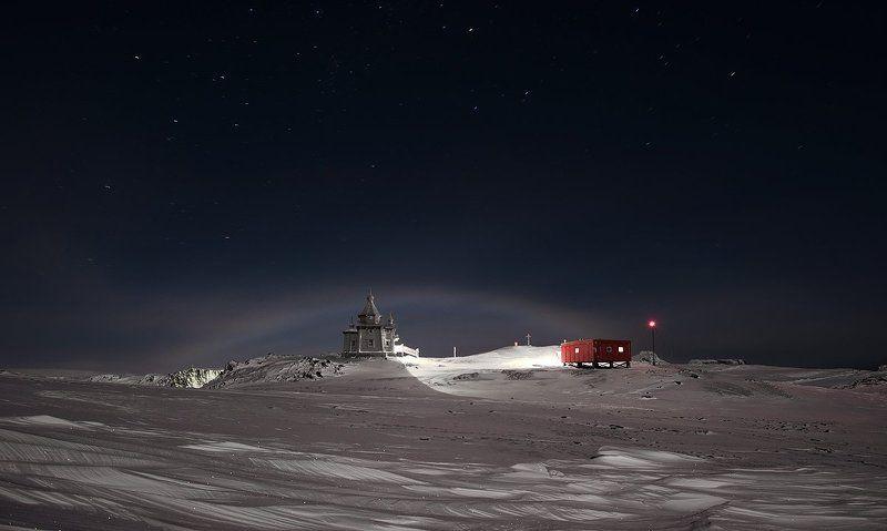 антарктика, king georg island, станция беллинсгаузен, лунная радуга, ночная радуга. Лунная(ночная) радуга в Антарктикеphoto preview