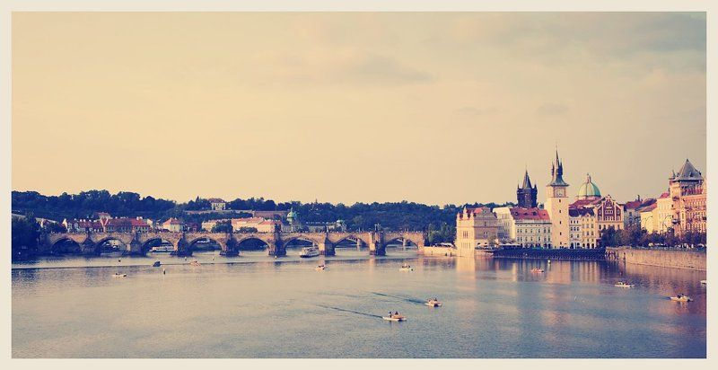 prague, praha, bridge, karlov, most, river, castle Карлов мостphoto preview