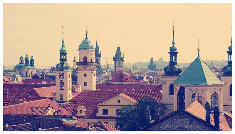 prague, praha, castle, roofs Башниphoto preview