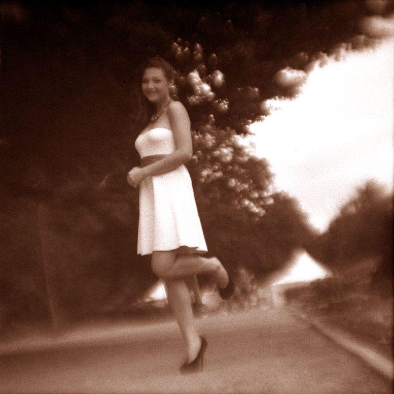 платье, улыбка \
