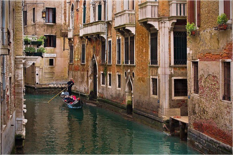 foto, liubos, венеция, гондола, канал, мост Bella Veneziaphoto preview