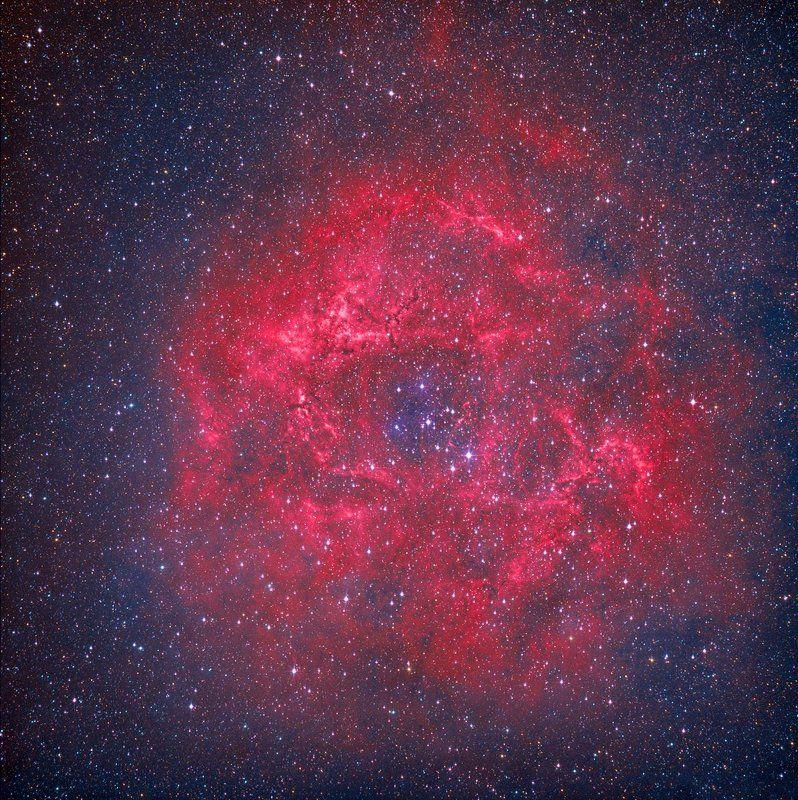 Астрономия, Звёзды, Небо, Ночь, Туманность Туманность Розеткаphoto preview