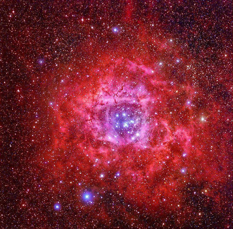Астрономия, Звёзды, Ночь, Розетка, Скопление Туманность Розеткаphoto preview